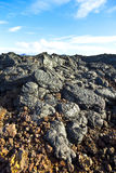 Stones of volcanic flow give Stock Photo