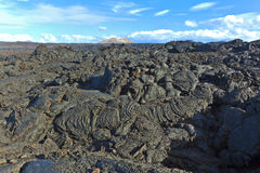 Stones of volcanic flow give Royalty Free Stock Images