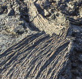 Stones of volcanic flow give a beautiful  structure Stock Image