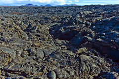 Stones of volcanic flow give a beautiful  structure Royalty Free Stock Images