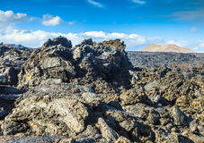 Stones of volcanic flow give a beautiful  structure Royalty Free Stock Photos