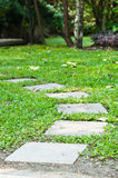 Stones walkway in the garden Stock Photos