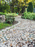 Stones walkway in garden. Stock Photo