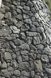 Stones wall. Natural grey stones for background stock photography