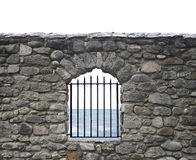Stones wall and bars Stock Images