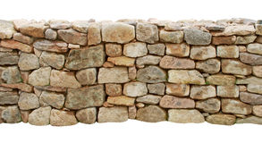 Stones wall cut out Royalty Free Stock Image