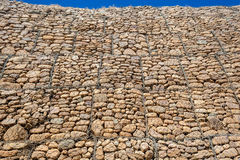 Stones Wall Detail Cages Royalty Free Stock Photography