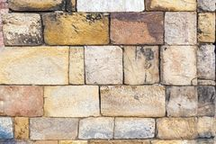 Stones at the wall of Qutub Minar Tower. The tallest brick minaret in the world , Delhi India royalty free stock image