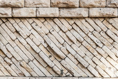 Stones wall texture. Rock wall backgrond outdoors Stock Photo