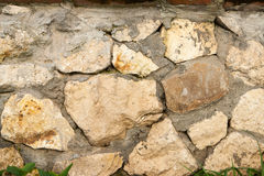 Stones wall texture. Rock wall backgrond outdoors Royalty Free Stock Images