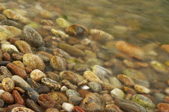 Stones in water. Long exposure Royalty Free Stock Photography