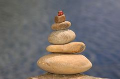 Stones and water. An image of a pyramid of stones Stock Photo