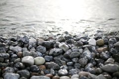 Stones and water Royalty Free Stock Photos