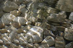 Stones and water Royalty Free Stock Photo