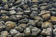 Stones and water background. royalty free stock photo