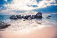 Stones in the water. Big stones in the sea Royalty Free Stock Photos