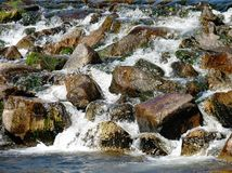 Stones and water. Water and stones in a  Black Forest torrent Stock Photo