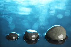 Stones in water Royalty Free Stock Photo