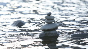 Stones in water stock video footage