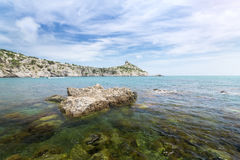 The stones in the water king`s beach Royalty Free Stock Photo