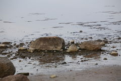 Stones In Water Royalty Free Stock Images