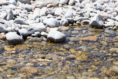 Stones in water Nature. In the park in nature stock photos