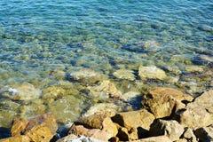 Stones, rocks and sea background, landscape Stock Image