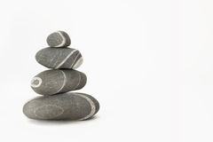 Stones in a white background royalty free stock image