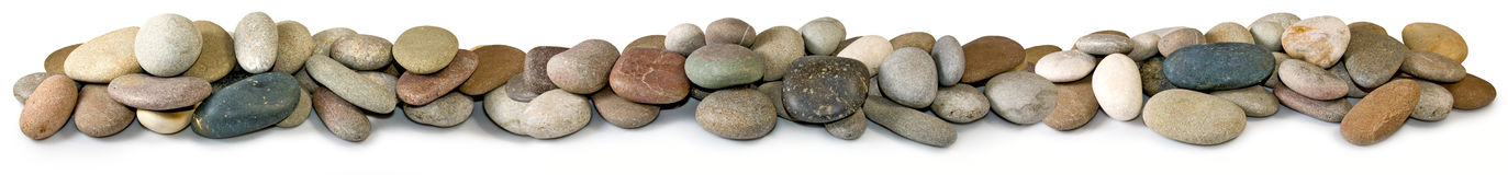 Stones on a white background Stock Images