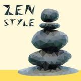 Stones in zen style Stock Image