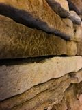 Stonescapes. Close up of some thin veneer stone Stock Photos