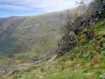 Stonethwaite dolina pod od Eagle Crag, fotografia stock