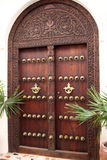 Stonetown Carved Wooden Door Royalty Free Stock Photography