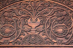 Stonetown Door Detail. Close up of the carved wood detail that is typical of doorways on Zanzibar Island, Tanzania Stock Images
