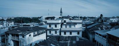 Stonetown-Panorama Sansibar Stockfoto