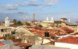 Stonetown Rooftops. A view out over the rooftops of Stonetown, Zanzibar Royalty Free Stock Images