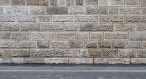 Stonewall. With details of road, ideal for graffiti design Stock Image