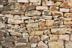 Stonewall. The patterns at wall with bondstone Stock Images
