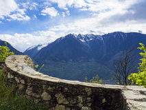 Stonewall in the alps Royalty Free Stock Photo