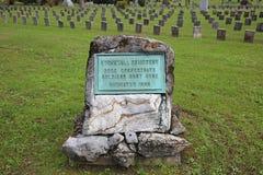 Stonewall cmentarz, Winchester, Virginia obrazy royalty free