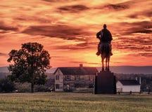 Stonewall Jackson en el campo de batalla de Manassas Imagen de archivo libre de regalías