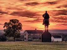 Stonewall Jackson at Manassas Battlefield Royalty Free Stock Image
