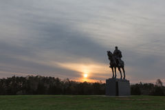 Stonewall Jackson Statue at sunrise Stock Images