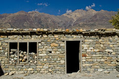 Stonewall in nepal rural. The stonewall in nepal rural Royalty Free Stock Photography