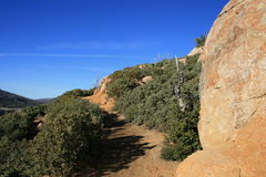 Stonewall Peak Trail. Trail to Stonewall Peak, San Diego County, CA Royalty Free Stock Photography