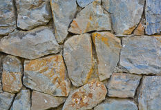 Stonewall. A Piece of stacked stone wall Stock Photo