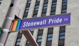 Stonewall Pride Lane em Columbo, OH fotos de stock