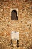 Stonewall przy Alcazaba fotografia stock