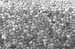 Stonewall. A wall made of stone Royalty Free Stock Photography