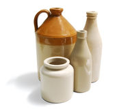 Stoneware Containers Royalty Free Stock Photos
